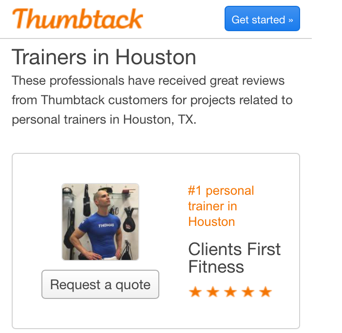Personal Trainer Houston, Texas - Thomas Chelly