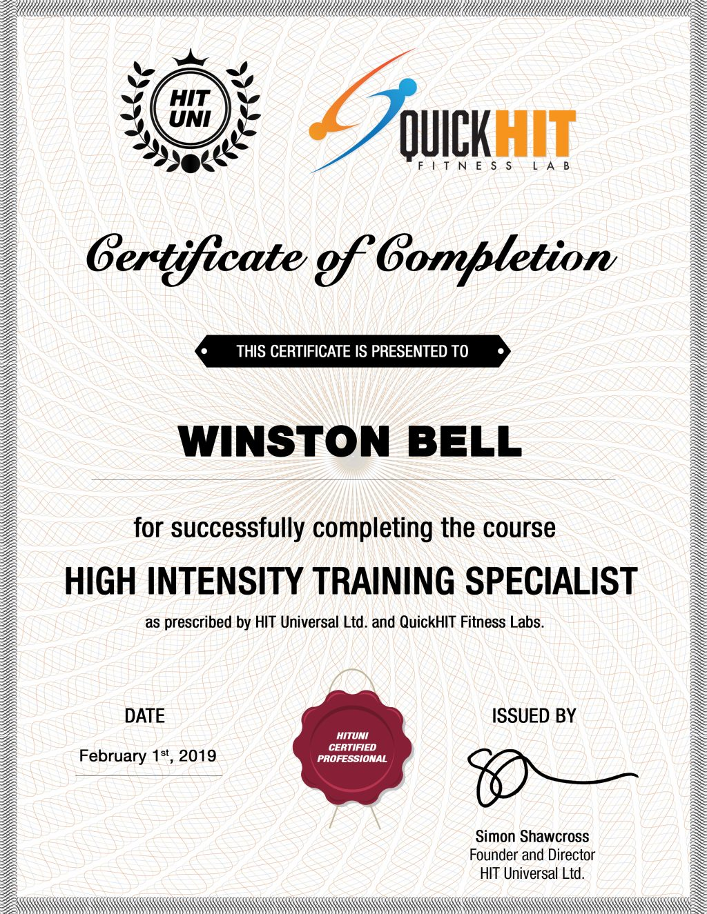 Personal Trainer Minneapolis, Minnesota - Winston Bell